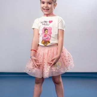 Dečije majice balerina, devojčica nosi majicu sa balerinom. Sportanac majice