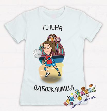 Majice za devojčice sportanac, sa odbojkaškim ilustracijama. Kvalitetan pamuk i eko štampa bojama na vodenoj bazi