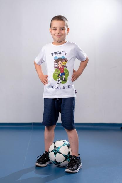 Dečije majice fudbaler od glave do pete, sportanac majice sa sportskim ilustracijama. Kvalitetan pamuk i originalne ilustracije.