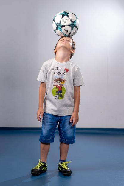 Fudbalske majice za dečake, volim fudbal. Kvalitetan pamuk i eko štampa na vodenoj bazi koja nije škodljiva na decu i postojana na materijalu.
