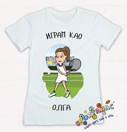 Majice za devojčice igram kao Olga, sportanac majice za decu sa jedinstvenim sportskim ilustracijama