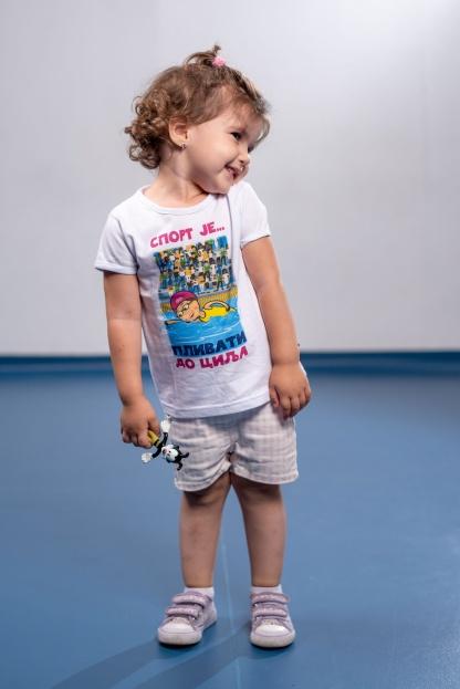 Dečije majice sa ilustracijama plivanje, sportanac, izaberi sport, dečiji sport, sportić, škola plivanja