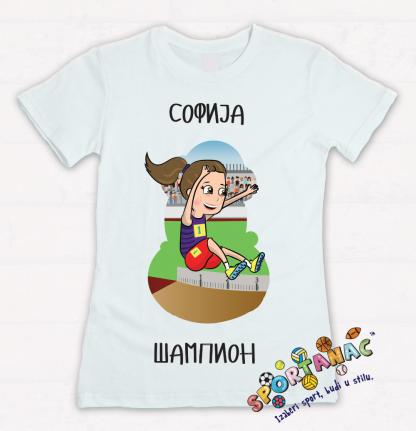 Majice za devojčice, atletičarka, sportanac, dečiji sport, izaberi sport