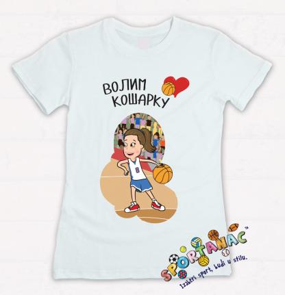 Majice za decu volim košarku, sportanac majice za decu