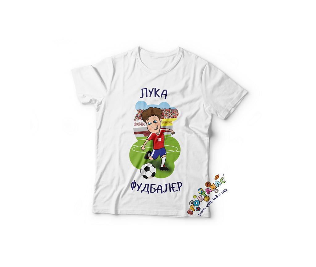 Dečije majice za dečake, fudbaler, moguća personalizacija majica za poklone. Sportanac majice