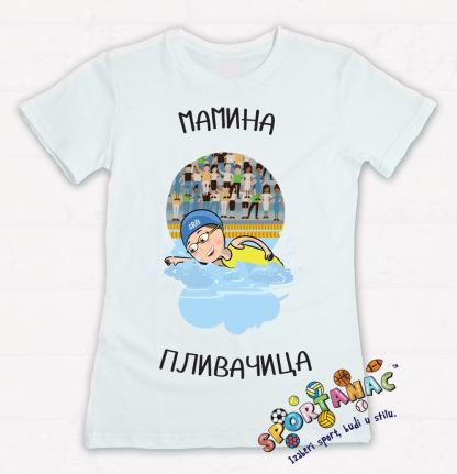 Dečije majice sa ilustracijama plivanje, sportanac, izaberi sport, dečiji sport, sportić, školа plivanja