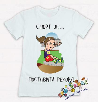 Majice za devojčice, atletičarka. Sportske majice za decu na jednom mestu. Sportanac