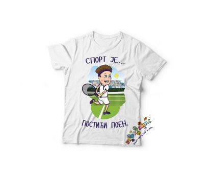 Majice za dečake sport je postići poen, teniser.