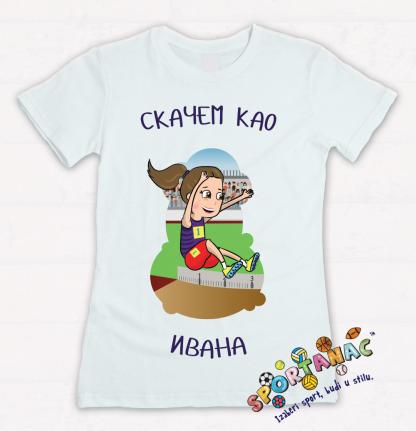Majice za devojčice, atletičarka skačem kao Ivana. Sportse majice za decu na jednom mestu. Sportanac