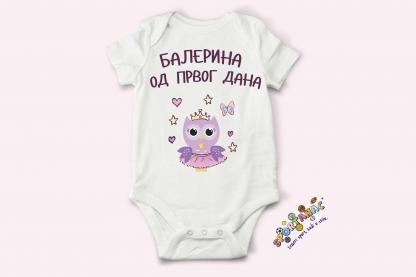 Bodići za bebe balerina od prvog dana. Sovica balerina za bebe devojčice