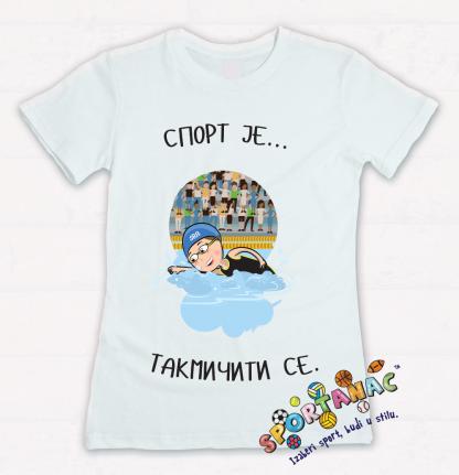 Dečije majice sa ilustracijama plivanje, sportanac dečije majice