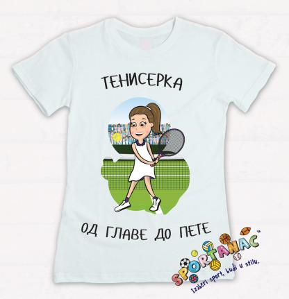 Majice za devojčice teniserka od glave do pete. Sportanac