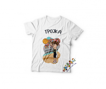 Majice za dečake košarka, sportanac dečije majice sa sportskim ilustracijama.