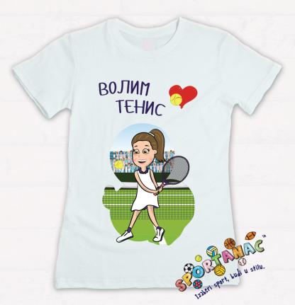 Majica za devojčice volim tenis. Kvalitetne dečije majice sportanac.