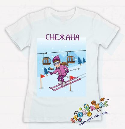 Dečije majice skijanje devojčica