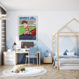 Posteri za dečije sobe atletika, sportanac posteri sa sportskim ilustracijama