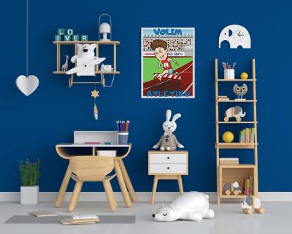 posteri za dečiju sobu, sportske ilustracije i poučne poruke o sportu za vaše mališane