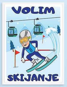 Posteri za decu volim skijanje