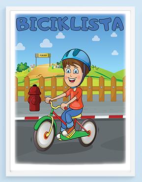 Poster za decu biciklista