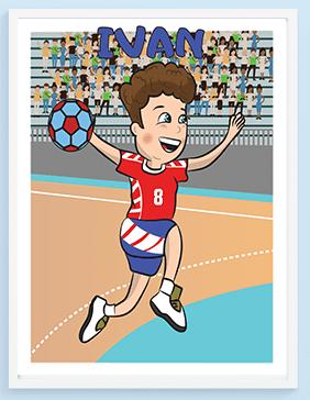 Poster za dečije sobe rukomet. Sportanac posteri