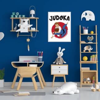 Posteri za dečije sobe judoka, dečiji džudo za sve koji vole džudo