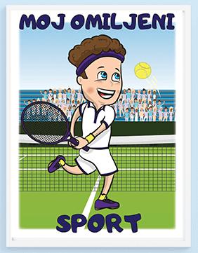 Poster za decu moj omiljeni sport teniser