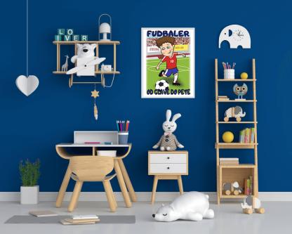 Fudbaler poster za dečiju sobu, sportanc posteri