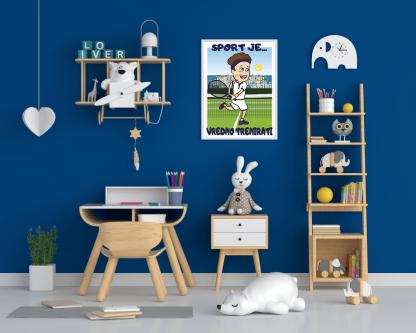 Posteri za dečije sobe teniser