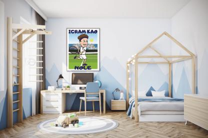 Poster za dečake igram kao Nole. Sportanac posteri
