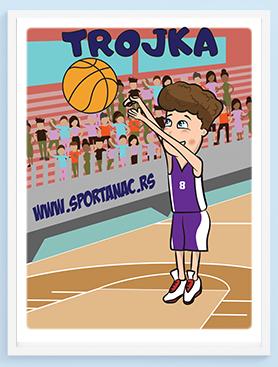 Posteri za dečije sobe košarka