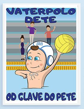 Poster za dečake vaterpolo dete od glave do pete.