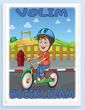 Posteri za decu, volim biciklizam. Sportanc posteri