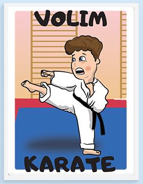Volim karate poster za dečake, Sportanc posteri