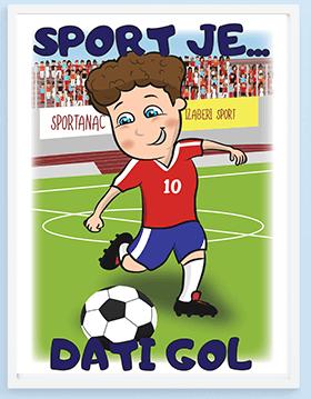 Posteri za decu fudbal, ulepšajte sobu vašeg fudbalera sa originalnim posterima.