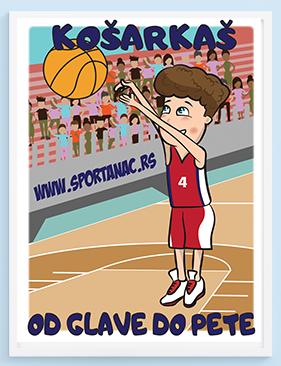 Poster za dečake košarkaš.Sportanac posteri