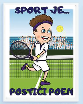 Poster za decu teniser. Sportanac posteri sa sportskim ilustracijama za vaše mališane