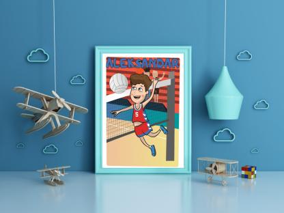 Posteri za dečije sobe, sportanc posteri