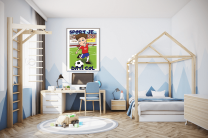 Poster za dečiju sobu fudbaler, sport je dati gol
