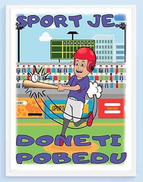 Bejzbol posteri za dečije sobe sportanac