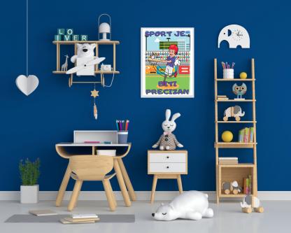 Posteri za sobe bejzbol dečak.