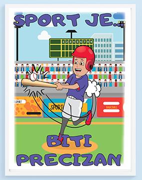 Posteri za sobe bejzbol, sport je biti precizan. Sportanac posteri