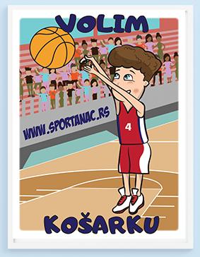 Posteri za dečije sobe košarkaš, volim košarku