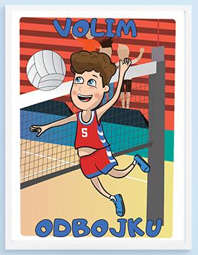 Odbojka posteri za decije sobe. Pronađite postere sa sportskim ilustracijama za vaše mališane