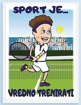 Tenis posteri za dečije sobe.