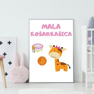 Mala košarkašica posteri za dečije sobe.