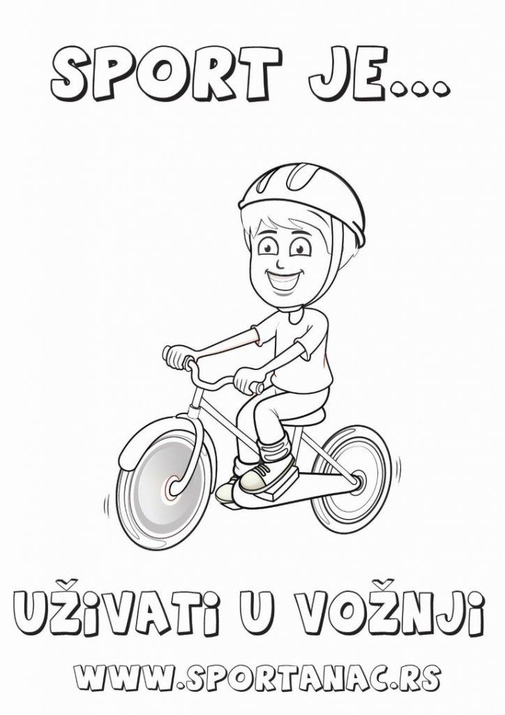 Bojanka za decu sportanac biciklista, izaberite za vaše mališane sportske bojanke koje će ih upoznati sa sportovima na kreativan način