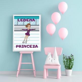 Poster za devojčice ledena princeza. Sportanac posteri