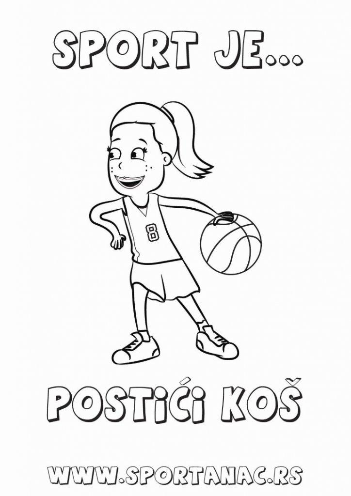 košarkaš, košarkašica, bojanka,bojanka za decu, sportanac bojanka, sportanac