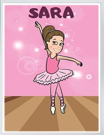 Poster za devojčice balerina.