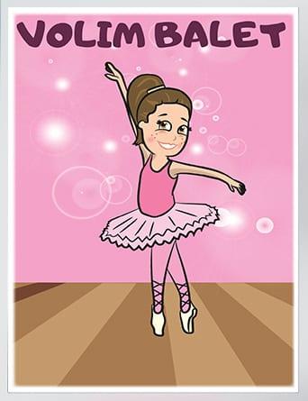 Poster za dečije sobe balerina.